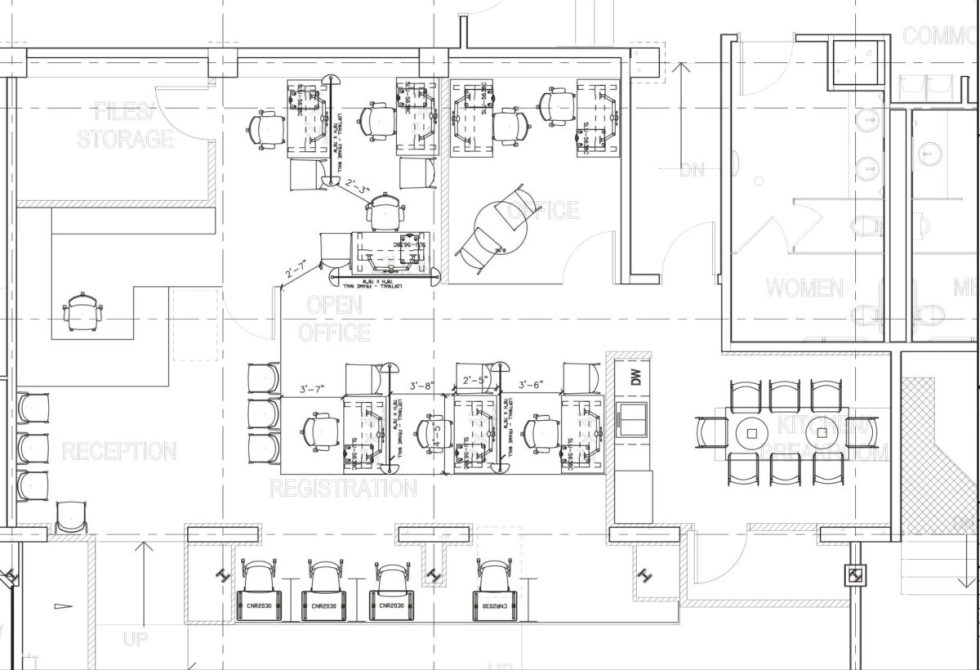 Space-planning designs by Harris WorkSystems office furniture - Tigard, Oregon PDX