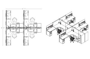 CAD Drawing for Space Planning by Harris WorkSystems