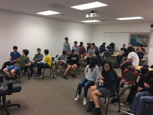 Programming students wait patiently for speaker to begin lecture. Credit: Printed with permission of Jessica Kaufman