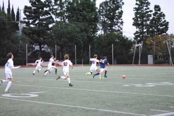 A player runs to steal the ball from the opposing team. Credit: Casey Kim '20/SPECTRUM