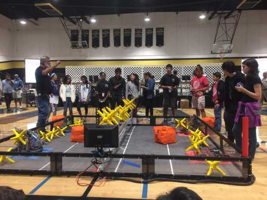 The competing students present their robots during the competition. Credit: Tammer Bagdasarian '20 / SPECTRUM