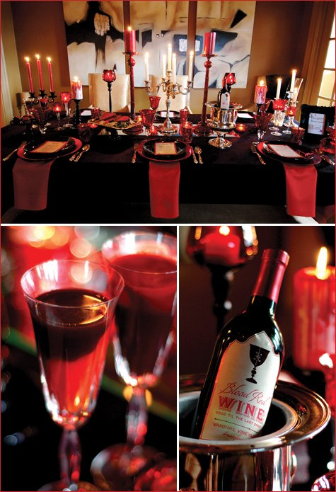 Vampire Dinner Ideas : vampire, dinner, ideas, VAMPIRE-Style, Dinner, Party, Hostess, Mostess®