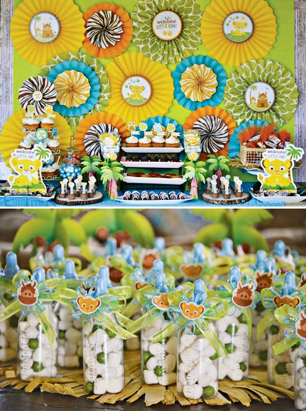 Lion King Baby Shower : shower, Safari, Inspired, Shower, Hostess, Mostess®