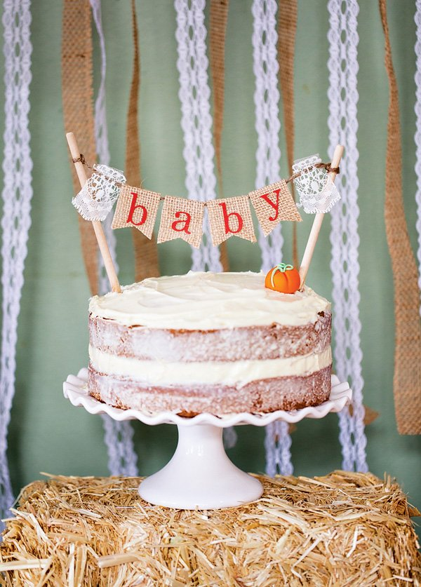 Rustic Baby Shower Cakes : rustic, shower, cakes, Charming, Rustic, Little, Pumpkin, Shower, Hostess, Mostess®