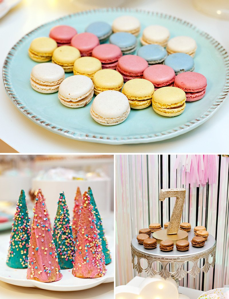 Unicorn Candy Table Ideas : unicorn, candy, table, ideas, Simple, Sparkly, Unicorn, Dessert, Table, How-To), Hostess, Mostess®