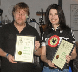 Darren and Kathryn at the Bingley Brewery