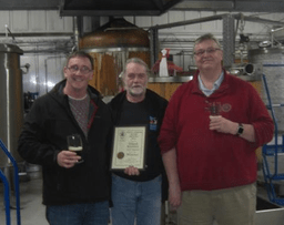 Mike, John and Steve at Elland Brewery