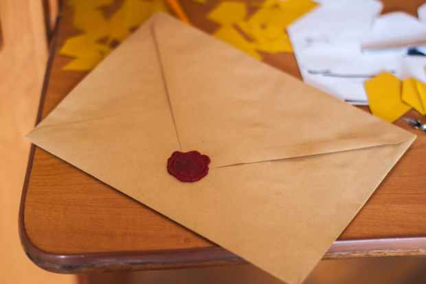 letter with red wax seal