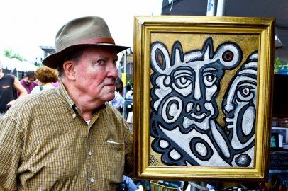 Painter and mixed media artist Joseph Rodgers.. Credit: Hyattsville Patch
