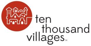 Ten Thousand Villages logo linked to Ten Thousand Villages website.