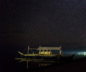 Nočná obloha počas novu