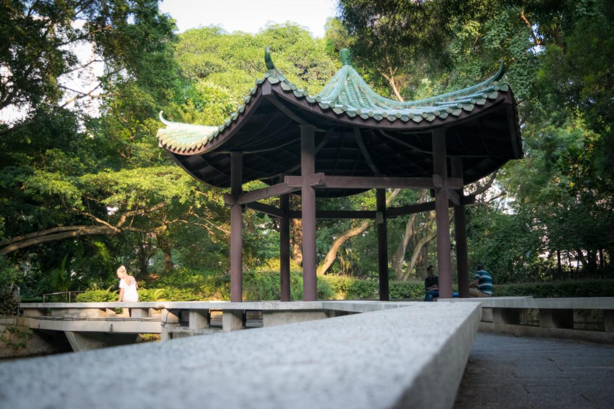 Kowloon Park a jeho zákutia...človek zabudne, že sa nachádza vo veľkomeste