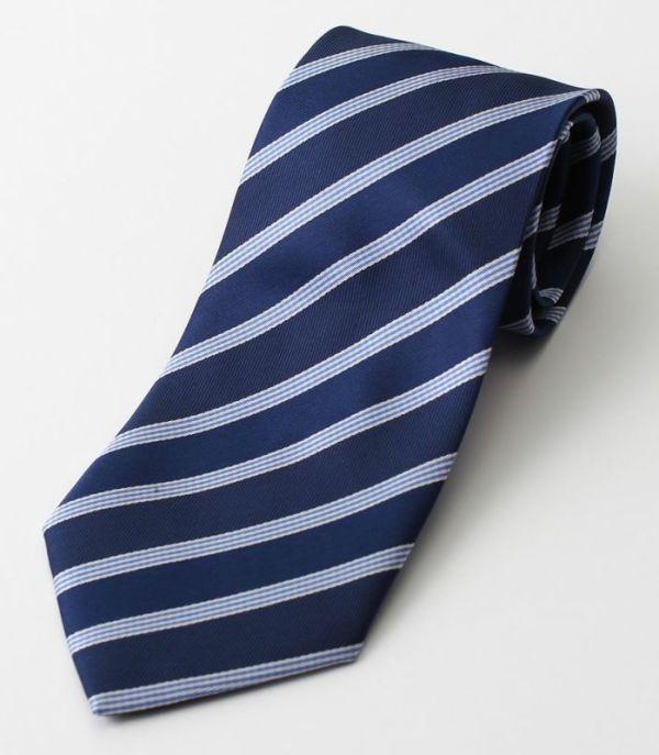 ストライプ ネクタイ 青 ブルー