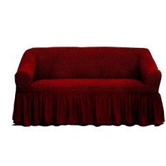 Sofa Covers Online Dubai Inexpensive Convertible Beds Buy Tendance 39s Cover 3 Seater Burgundy In Uae