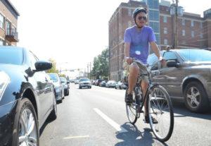 Cyclist at Hyattsville Arts Festival 2012 Credit: Michael Theis, Hyattsville Patch