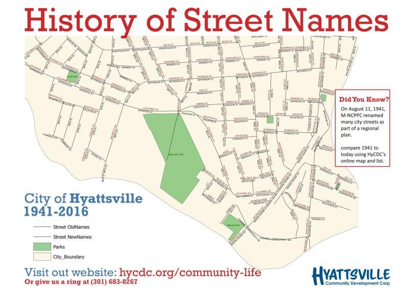 Historic Street Names Hyattsville Community Development Corporation - Us-map-with-city-names