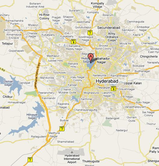 Where Is Hyderabad Located In India Map.Hyderabad Map Map Of Hyderabad City Maps Hyderabad India Online