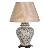 Floral ceramic table lamp - Handmade kitchens in Norwich ...