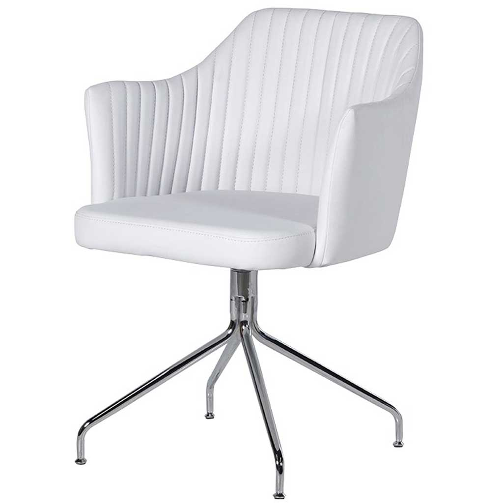 White Leather Swivel Chair White Leather Swivel Chair Handmade Kitchens In Norwich