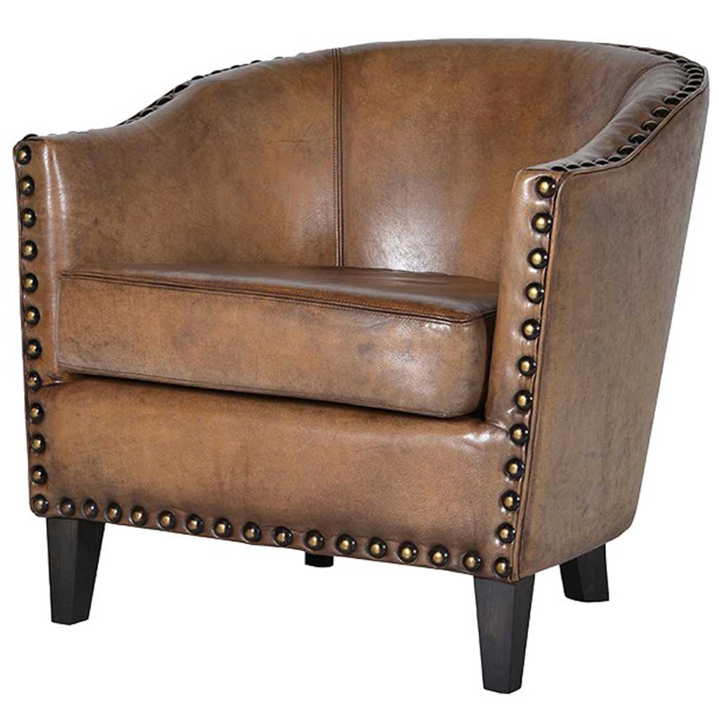 tub chair brown leather fishing umbrella holder olive handmade kitchens in