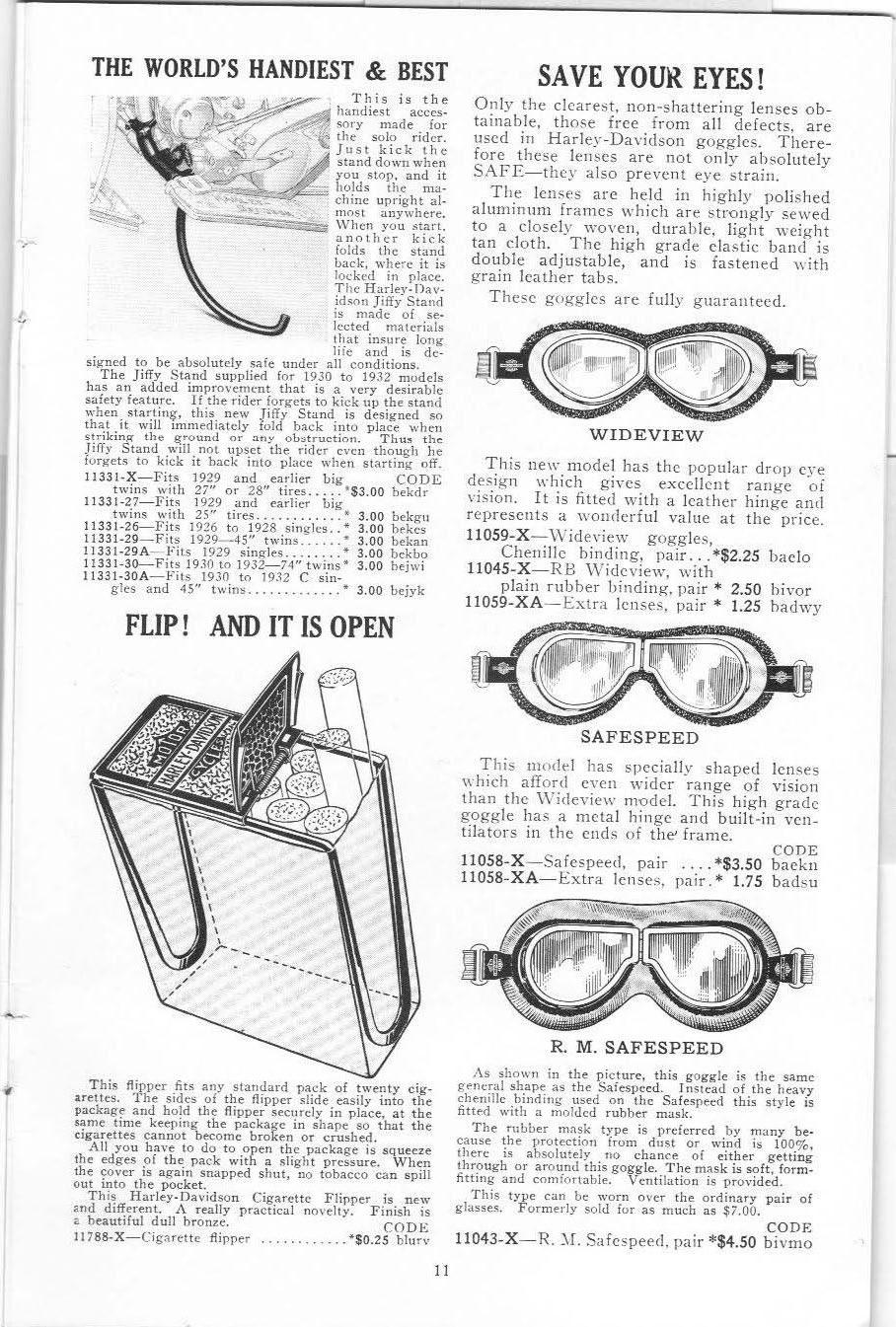 1932 Spring & Summer Catalog Harley-Davidson Accessories