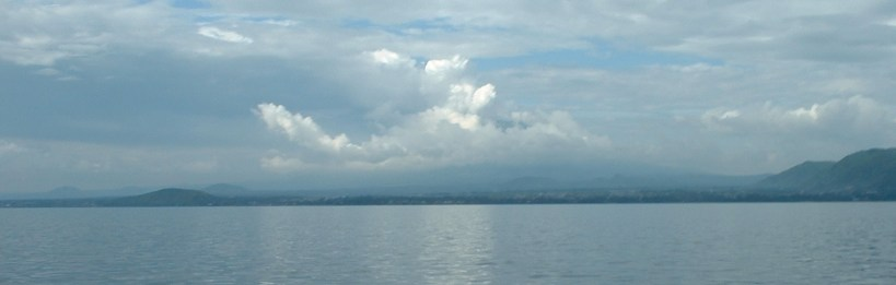 Changing Careers to go Fishing? Mountain hiding in the clouds from the volcanoes