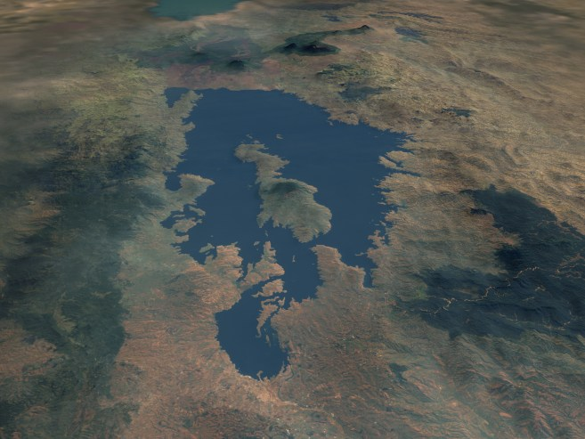 Lake Kivu Composite Image from Space