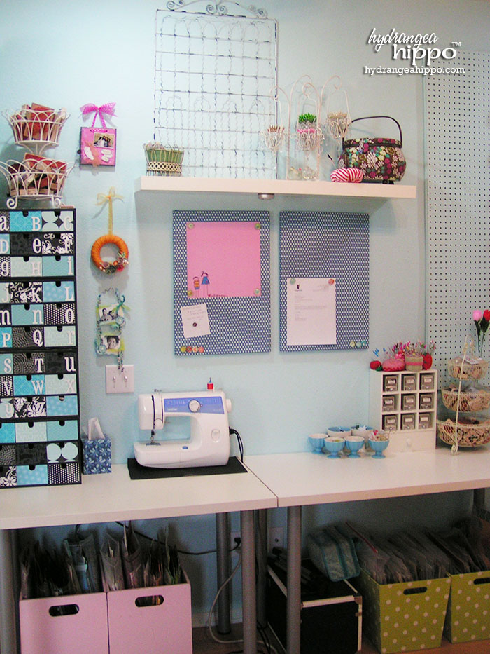 Sewing Center in Jennifer Priest's Scrapbook Room.