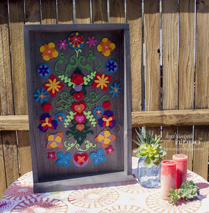 Mexican Folk Art Garden Wall Art Panel JPriest