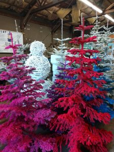 flocked trees