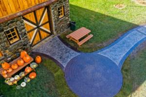 kilchis river pumpkin patch concrete pathway