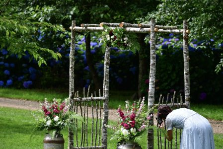 Wedding Arch included in Hydrangea Ranch Wedding Venue Rentals