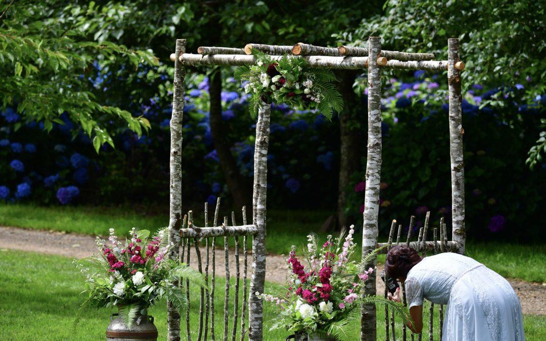 Wedding Arch included in Hydrangea Ranch Wedding Venue Rentals