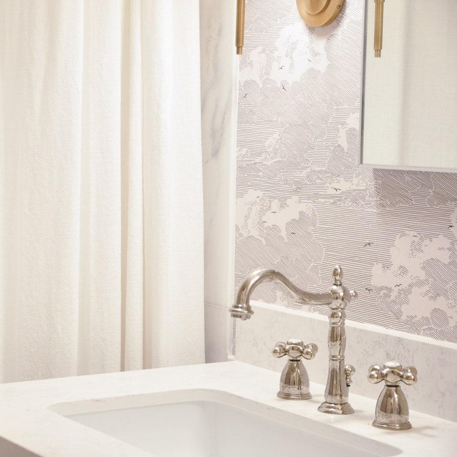Bathroom Remodel Update Diy Wallpaper Hydrangea Treehouse