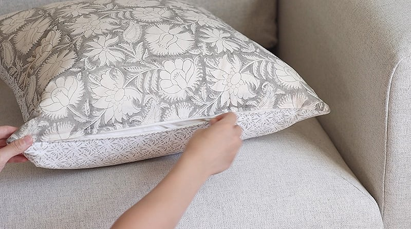 diy throw pillow covers with zipper