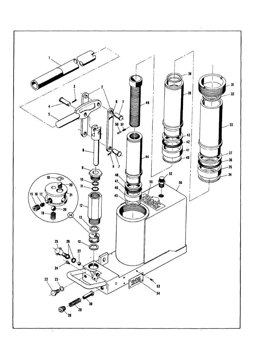 Figure 3-1. 10-Ton Hydraulic Aircraft Hand Jack Assembly