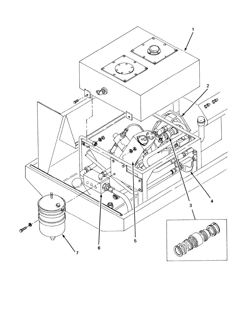 Figure 4-6. Removal of Hydraulic System Components