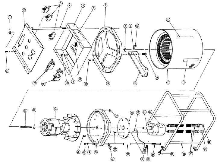 FIGURE 2. Hydraulic Motor Generator Assembly
