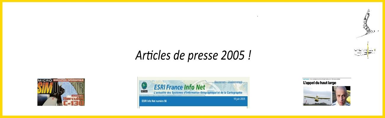 affiche presentation articles de presse 2005