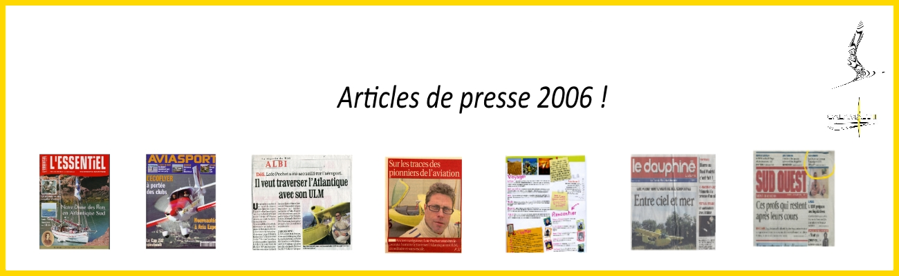 affiche presentation articles de presse 2006