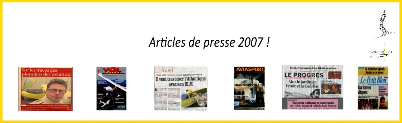 affiche presentation articles de presse 2007