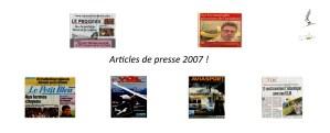 Articles de presse 2007