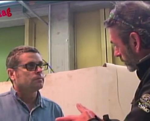 interview tv video dans les locaux du Lycée techniques Charles Alliés de Pezenas auprès du master du moule de CALAMALO II