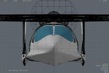 vue de face bi-poutre morgann pour calamalo aviation