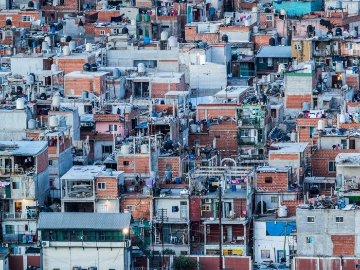 Shanty town in the centre of Buenos Aires, capital of Argentina
