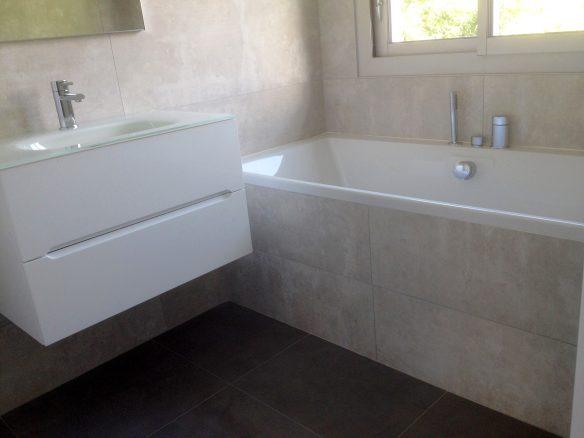 salle de bain plombier fouesnant