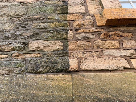 Cotswold Stone Cleaning services - Hydro Clean Exterior Ltd - Gloucestershire, Worcestershire & Warwickshire.