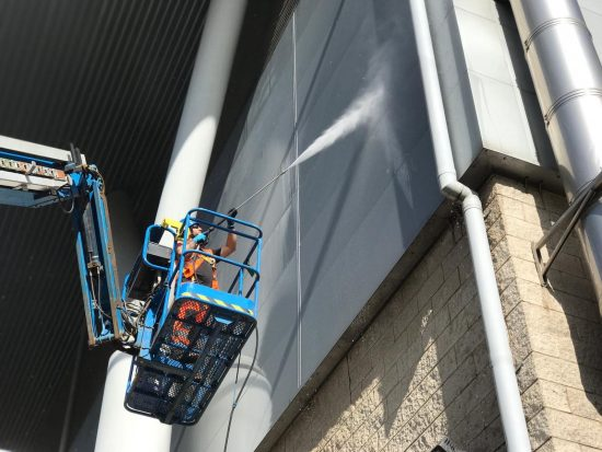 Hydro Clean Exterior Cladding Cleaning High Level. Banbury