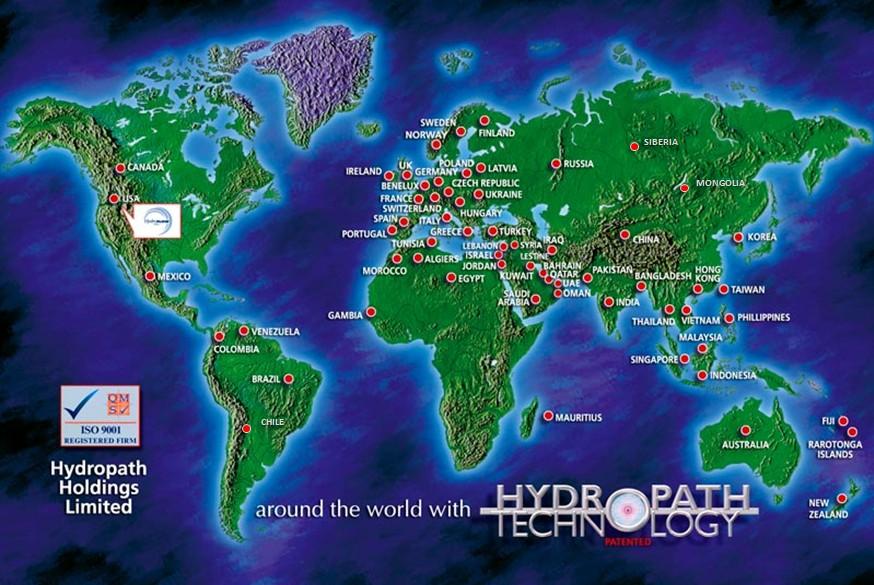 La technoloHydropath Technologie in der Weltgie HydroPATH Dans le monde
