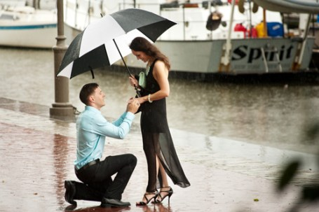 I was fortunate enough to photograph Rob & Danielle's engagement this evening. Despite the rain, Rob went ahead with the proposal he planned months ago.
